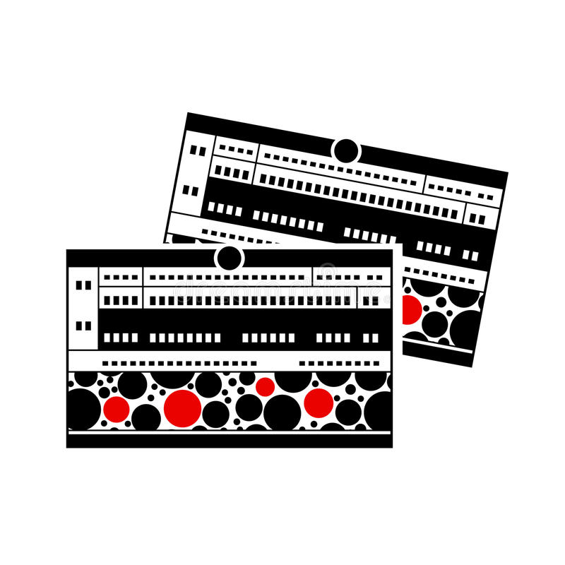 Bahnfahrkarteikone, einfache Art lizenzfreie abbildung