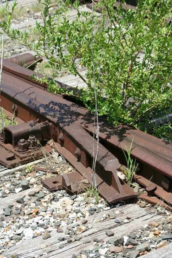 Bahngleisabstellgleisschalter stockfoto