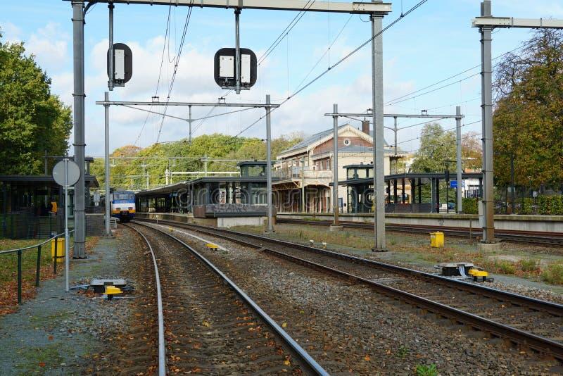 Bahnhof Baarn in den Niederlanden lizenzfreies stockbild