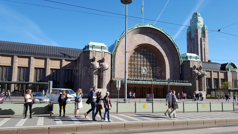 Bahnhof in Finnland Helsinki, Helsingfors stockfoto