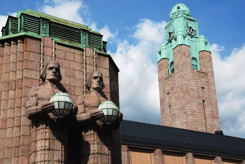 Bahnhof in Helsinki stockfotografie