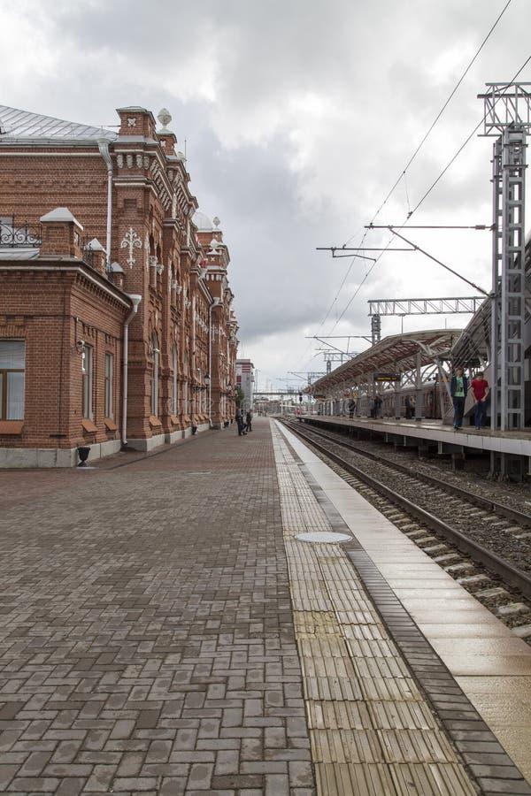 Bahnhof in Kasan, Russische Föderation lizenzfreie stockfotografie
