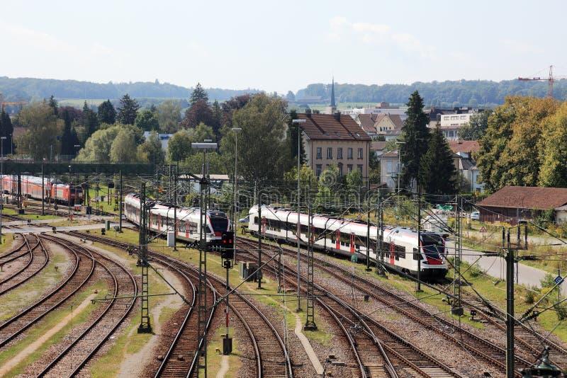 Bahnhof in Kreuzlinge. stockfoto