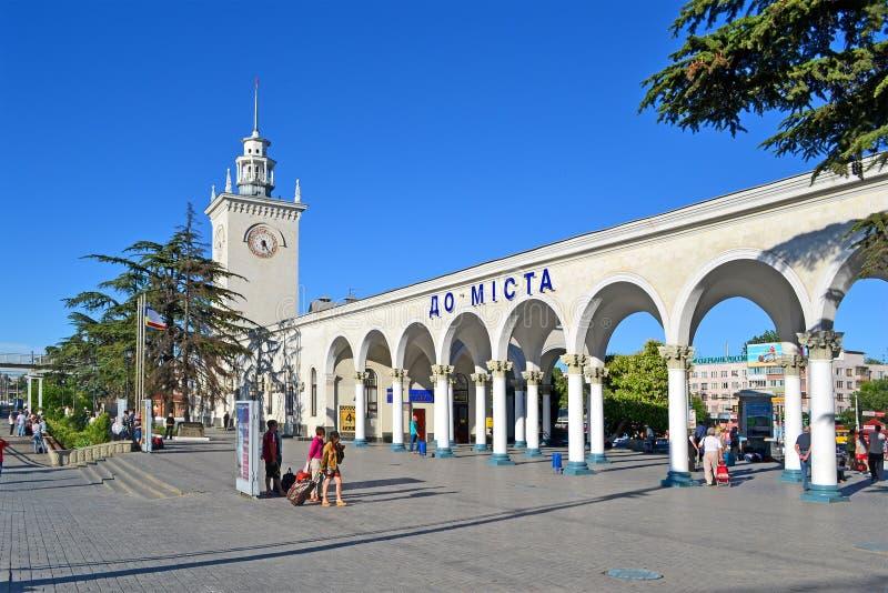 Bahnhof Krim, Simferopol (alias Simferopol-Passazirsky) in Simferopol, Ukraine, stockfotos