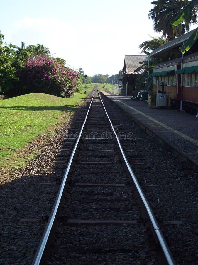 Bahnhof Kuranda stockbilder