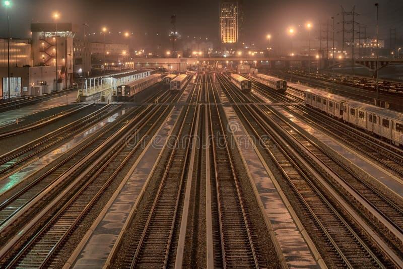 Bahnhof in Los Angeles Kalifornien nachts lizenzfreies stockfoto