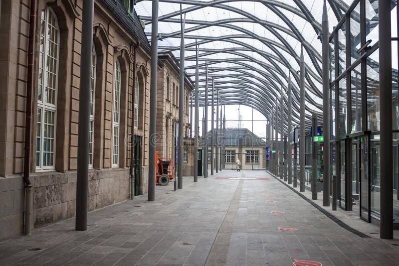 Bahnhof in Luxemburg lizenzfreie stockfotografie