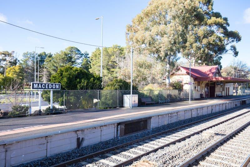 Bahnhof Macedon lizenzfreie stockbilder