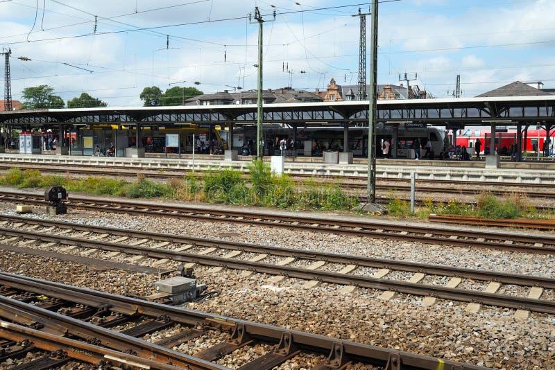 Bahnhof in Offenburg, Deutschland lizenzfreie stockfotos
