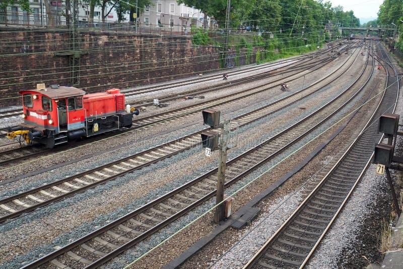 Bahnhof in Offenburg, Deutschland lizenzfreies stockfoto