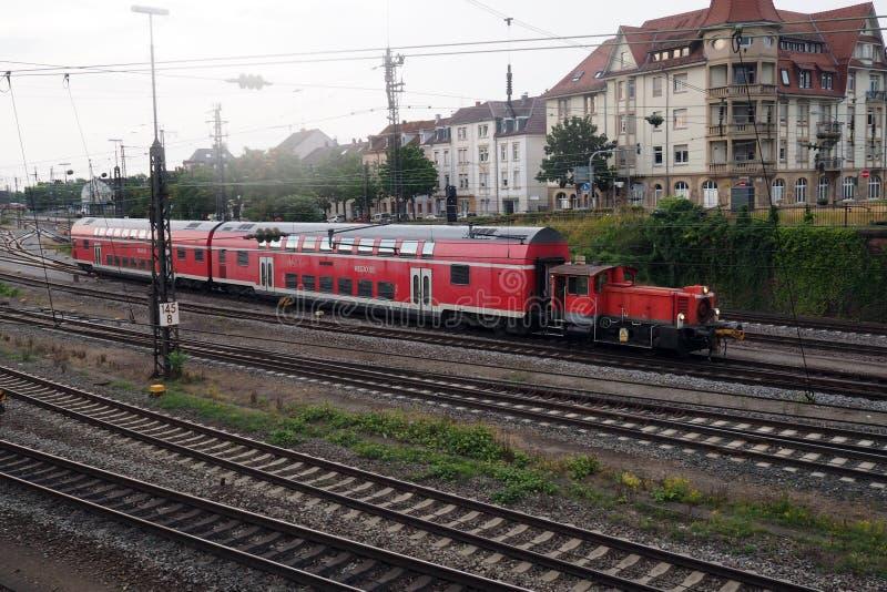 Bahnhof in Offenburg, Deutschland lizenzfreies stockbild