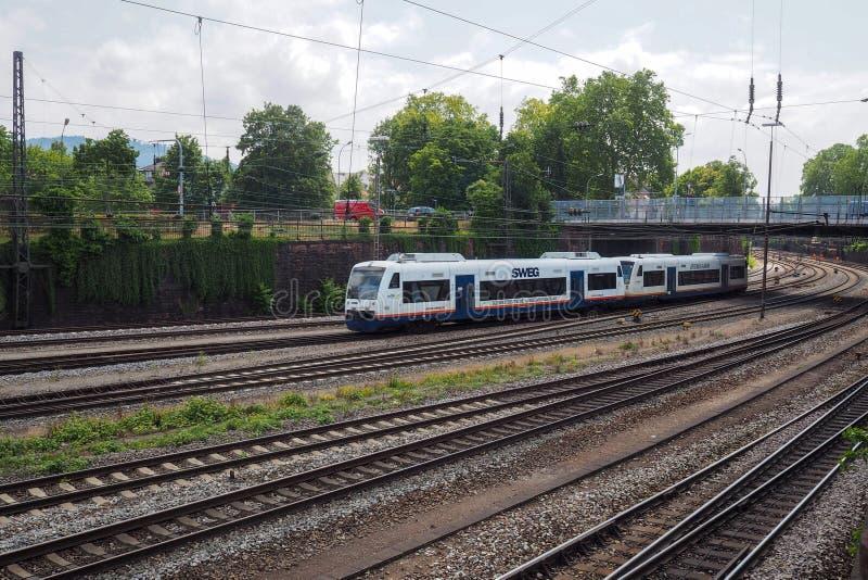 Bahnhof in Offenburg, Deutschland stockbild