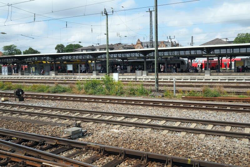 Bahnhof in Offenburg, Deutschland lizenzfreie stockbilder