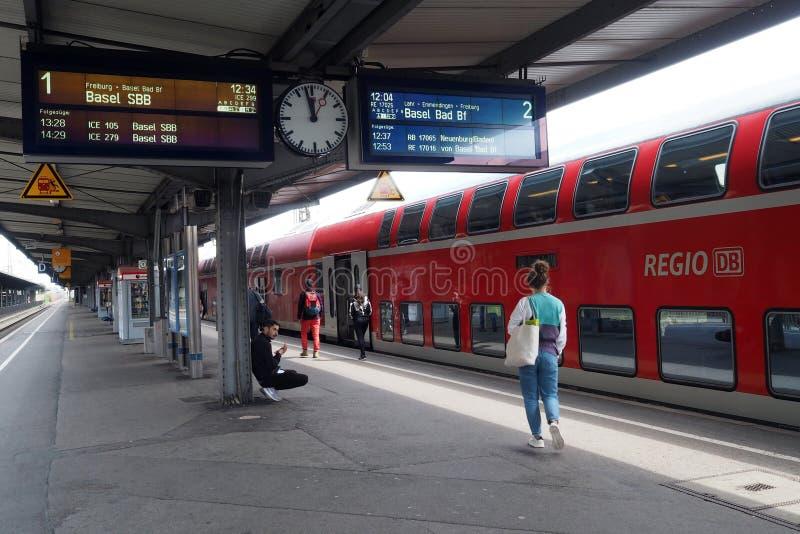 Bahnhof in Offenburg, Deutschland stockfotos