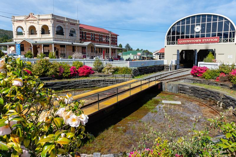 Bahnhof Queenstowns - Tasmanien - Australien stockfotografie