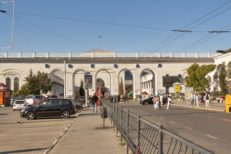 Bahnhof Simferopols stockbilder