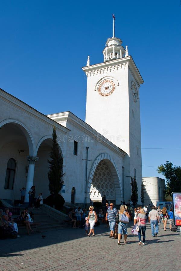 Bahnhof von Simferopol stockbilder