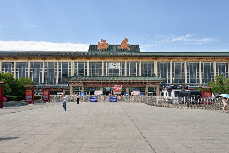 Bahnhof Xi'ans lizenzfreies stockbild