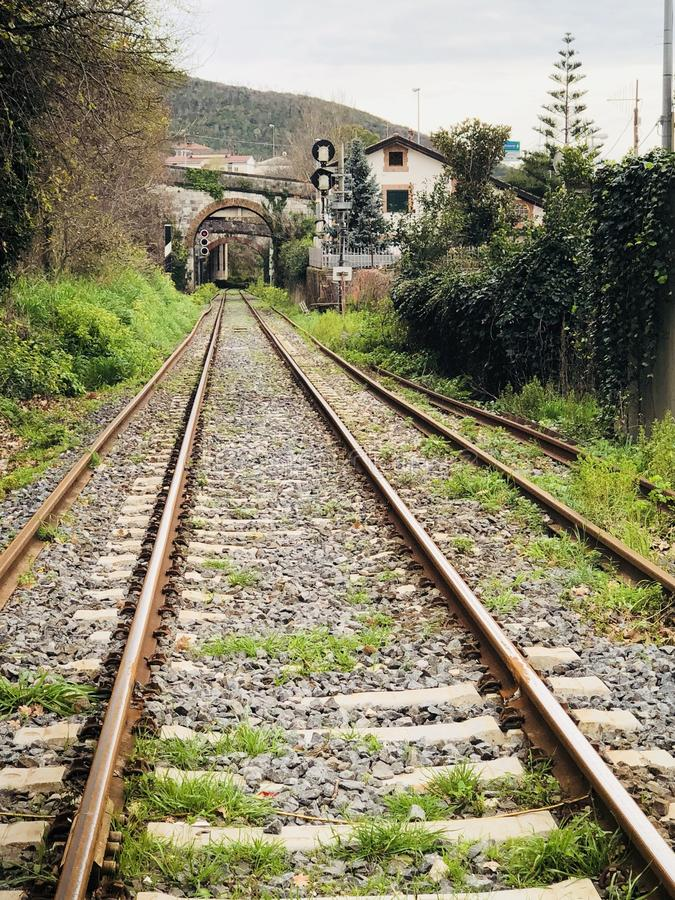 Bahnlinie Eisenbahn stockbild