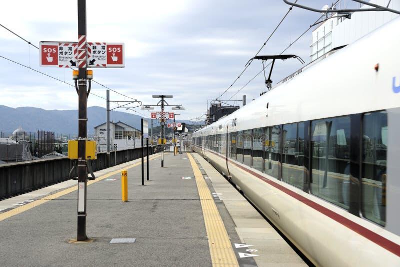 Bahnplattform in Japan lizenzfreies stockbild