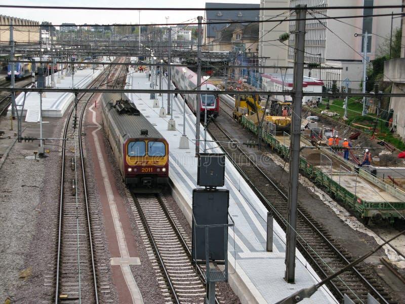 Bahnstation stockfoto