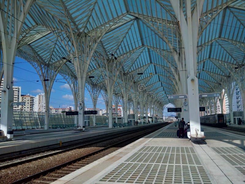 Bahnstation stockfotografie
