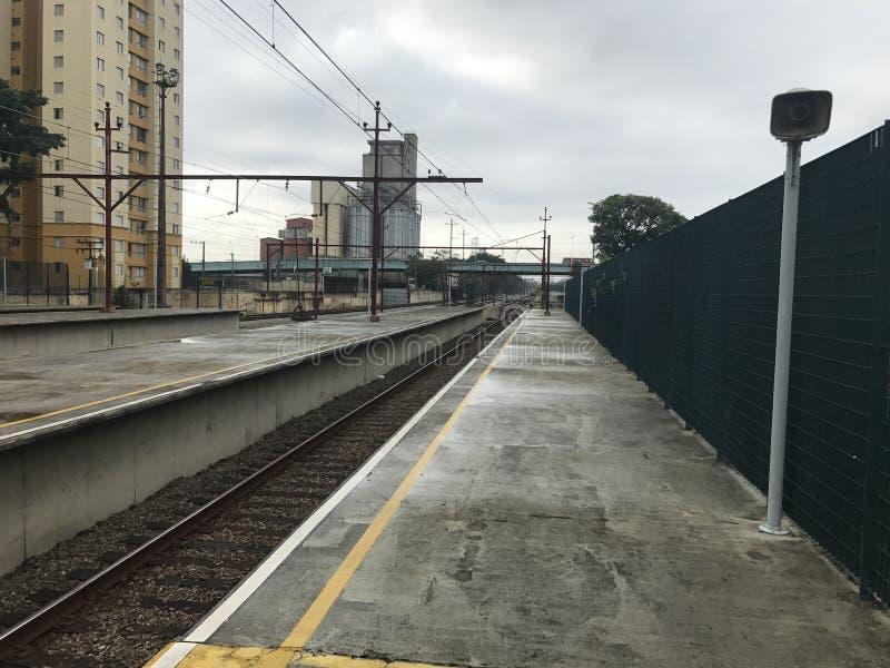 Bahnstation lizenzfreies stockbild