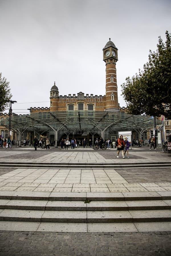 Bahnstation in Gent stockbild