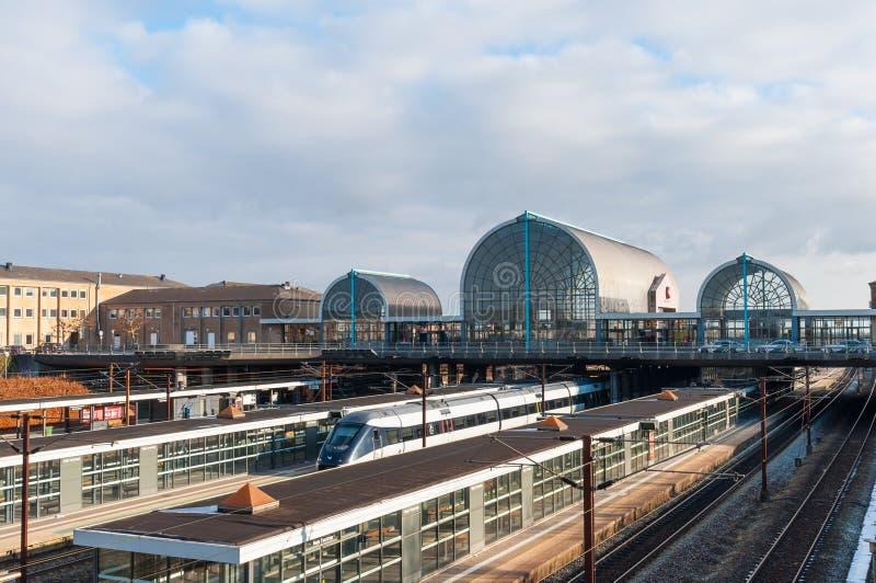Bahnstation Hoje Taastrup stockfotos