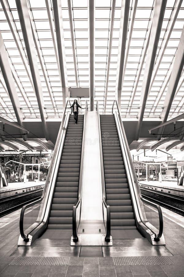 Bahnstation in Lüttich, Belgien stockfoto