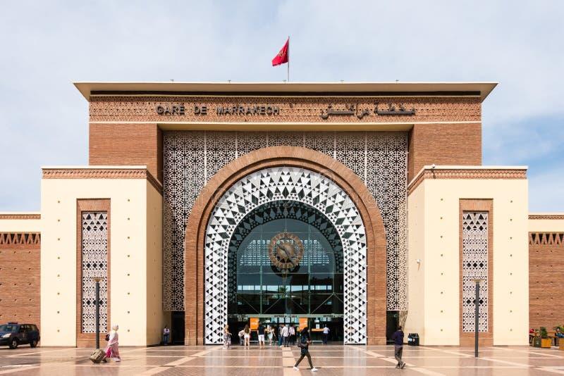 Bahnstation Marrakesch, Marokko Gare Des Marrakesch stockbilder