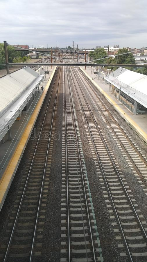 Bahnstation in Newark Liberty International Airport NJ EWR lizenzfreie stockfotografie