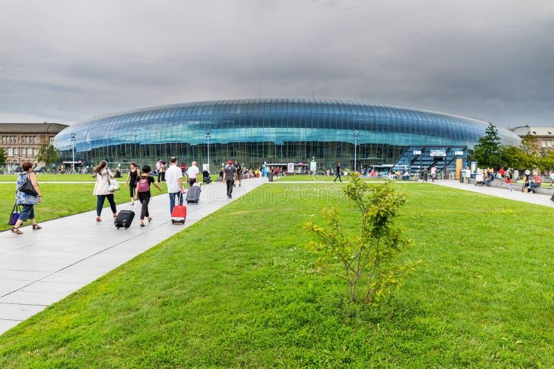 Bahnstation in Straßburg - Frankreich stockbild