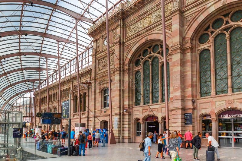 Bahnstation in Straßburg - Frankreich stockbilder