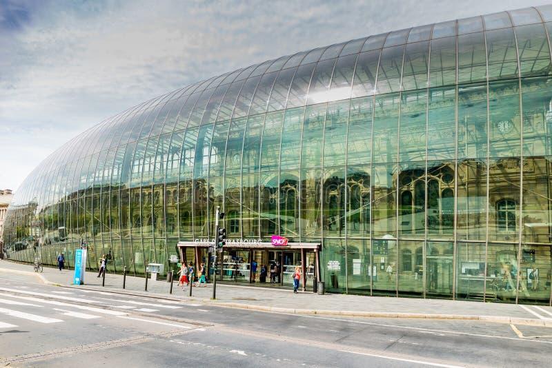 Bahnstation in Straßburg - Frankreich stockfotos