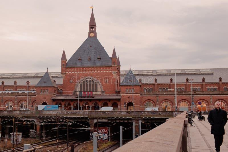 Bahnstation von Kopenhagen, Dänemark lizenzfreies stockfoto