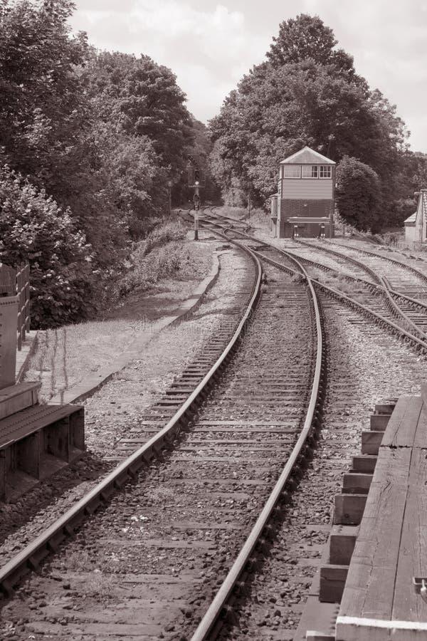 Bahnstrecke stockbilder