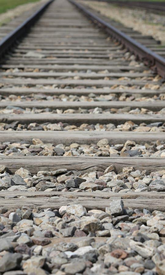 Bahnstrecke, die die Züge trug lizenzfreies stockfoto