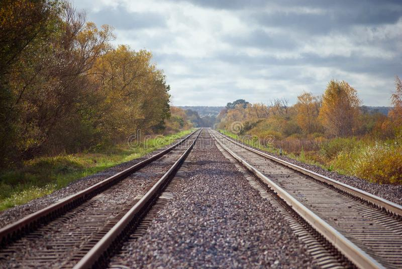 Bahnstrecke, horizontaler Schuss lizenzfreies stockbild