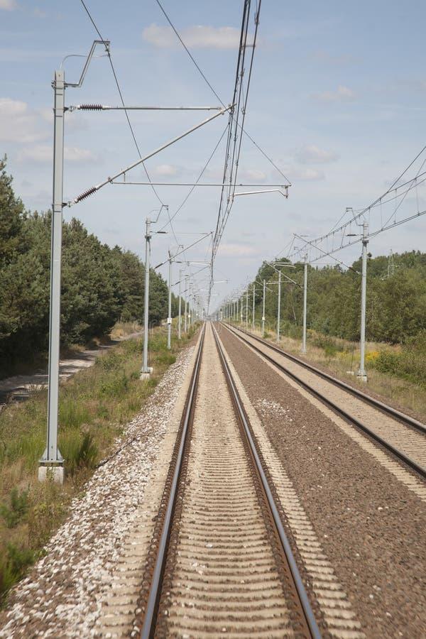 Bahnstrecke in Polen lizenzfreies stockbild