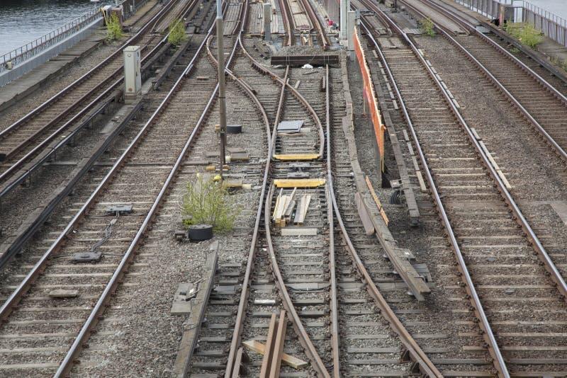 Bahnstrecke, zentrale Brücke; Stockholm stockfotografie