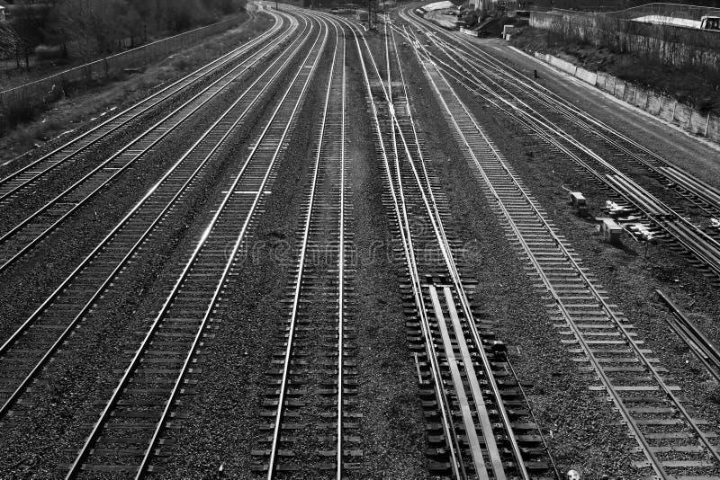 Bahnstrecken lizenzfreies stockbild