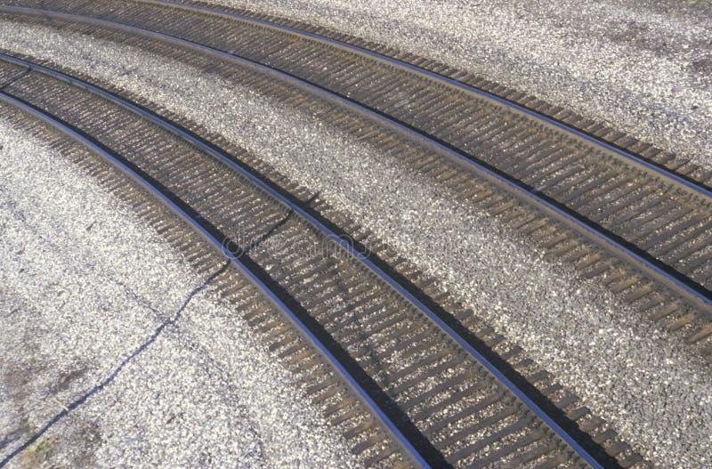 Bahnstrecken in Indianapolis, Indiana lizenzfreie stockfotografie