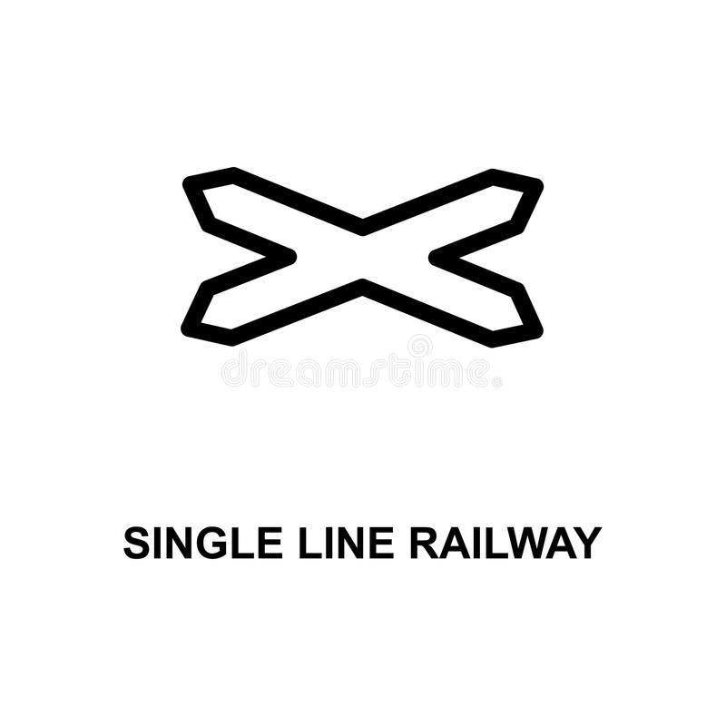 Bahnzeichenikone der einzelnen Zeile Element von Bahnzeichen für bewegliche Konzept und Netz apps Bahnzeichenikone Ca der ausführ stock abbildung
