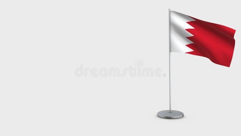 Bahrain 3D vinkande flaggaillustration royaltyfri illustrationer