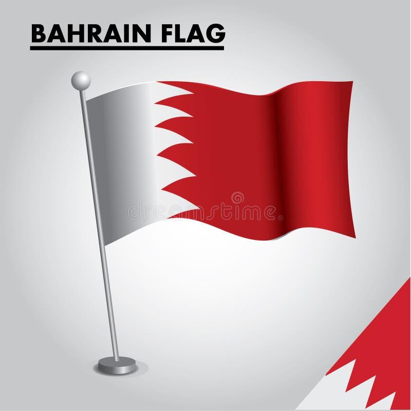 BAHRAIN FASO flagganationsflagga av BAHRAIN FASO på en pol vektor illustrationer