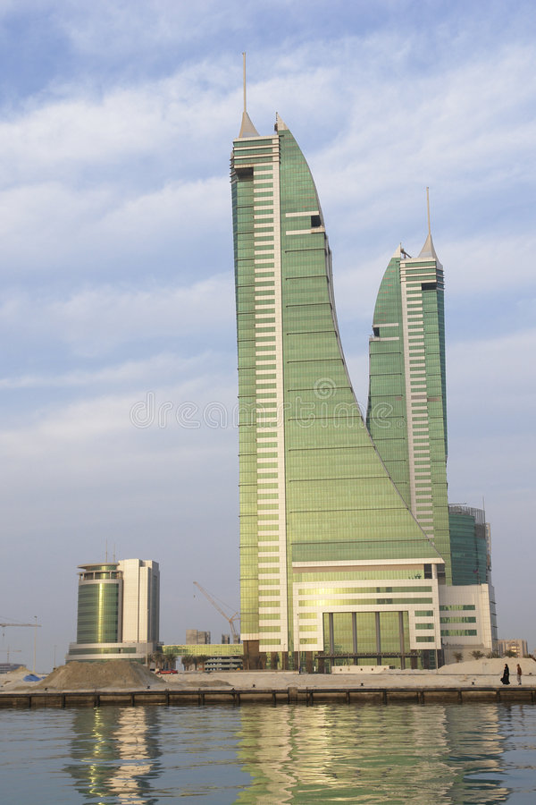 Download Bahrain Financial Harbour stock photo. Image of harbor - 8398442