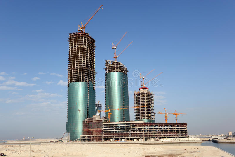 Bahrain Financial Harbour. Manama. Skyscraper construction at the Bahrain Financial Harbour. Manama, Middle East royalty free stock images