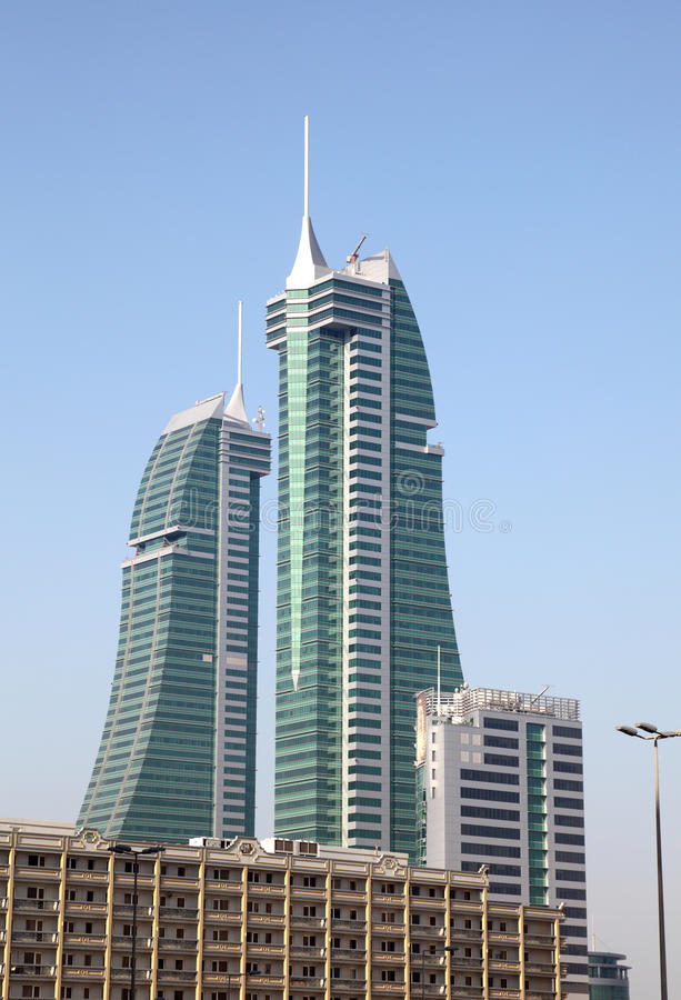 Download Bahrain Financial Harbour Skyscrapers In Manama Stock Image - Image: 38647245