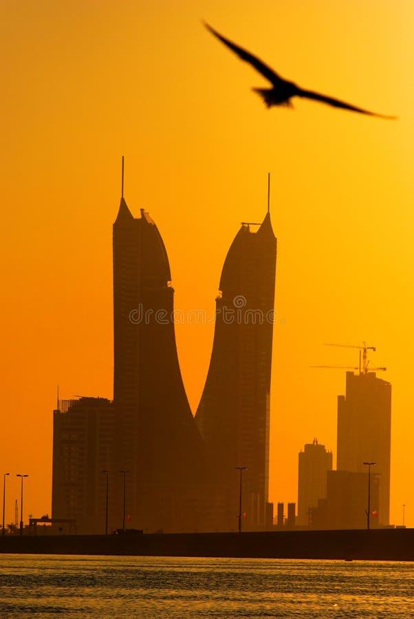 Bahrain-Finanzhafen stockfotografie